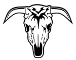 Bull Skull v10 Decal Sticker