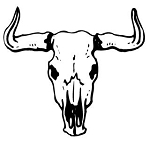 Bull Skull v3 Decal Sticker