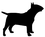 Bull Terrier Silhouette Decal Sticker