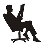 Businessman Silhouette v1 Decal Sticker