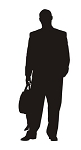 Businessman Silhouette v2 Decal Sticker