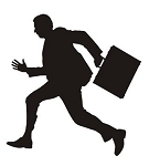 Businessman Silhouette v4 Decal Sticker