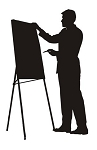 Businessman Silhouette v5 Decal Sticker