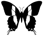 Butterfly v10 Decal Sticker