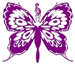 Butterfly Girl Decal Sticker