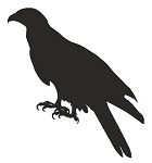 Buzzard Silhouette Decal Sticker