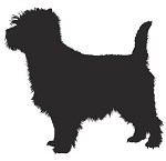 Cairn Terrier Silhouette Decal Sticker