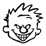 Calvin Head Decal Sticker