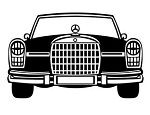 Car Front View v3 Decal Sticker