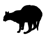 Cat Silhouette v11 Decal Sticker