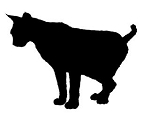 Cat Silhouette v8 Decal Sticker