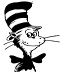 Cat in the Hat Decal Sticker