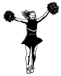 Cheerleader v5 Decal Sticker