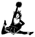 Cheerleader Jump v2 Decal Sticker