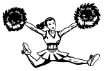 Cheerleader Jump v4 Decal Sticker