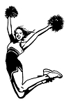 Cheerleader Jump Decal Sticker