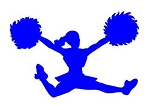 Cheerleader Silhouette v4 Decal Sticker