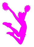 Cheerleader Silhouette v6 Decal Sticker