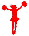 Cheerleader Silhouette v7 Decal Sticker