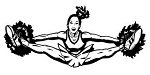 Cheerleader Splits v2 Decal Sticker