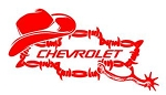 Chevrolet Cowboy v2 Decal Sticker