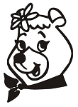 Cindy Bear Decal Sticker