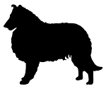 Collie Silhouette Decal Sticker