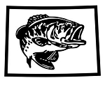 Colorado Bass Fishing Decal Sticker