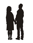 Couple Silhouette v3 Decal Sticker