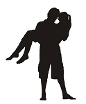 Couple Silhouette v4 Decal Sticker