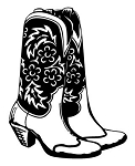 Cowboy Boots v3 Decal Sticker