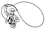 Cowboy Roper Decal Sticker