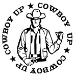 Cowboy Up Circle Decal Sticker