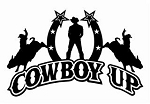 Cowboy Up Design v4 Decal Sticker