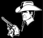 Cowboy with Gun Decal Sticker