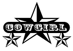 Cowgirl Stars Decal Sticker