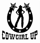 Cowgirl Up Horseshoe Decal Sticker