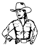 Cowgirl Decal Sticker