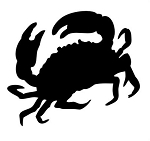 Crab Silhouette v6 Decal Sticker