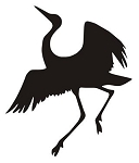 Crane Bird Silhouette v3 Decal Sticker