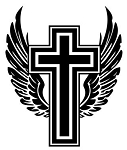 Cross with Wings v3 Decal Sticker