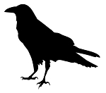 Crow Silhouette Decal Sticker