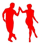 Dancing Couple Decal Sticker