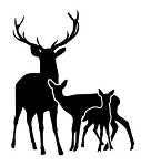 Deer Family Decal Sticker