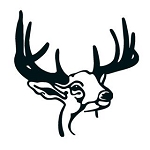 Deer Head v10 Decal Sticker
