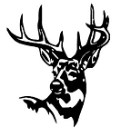 Deer Head v11 Decal Sticker