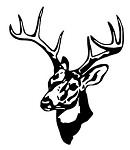 Deer Head v12 Decal Sticker