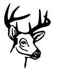 Deer Head v9 Decal Sticker