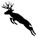 Deer Jumping Silhouette Decal Sticker