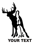 Deer Piss on Your Text Decal Sticker